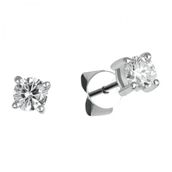 Pecky z bílého zlata s diamanty GKW43465