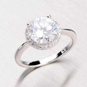 Rhodiovaný prsten ze stříbra se zirkony RXC02150408