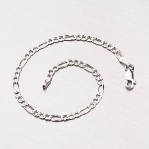 Stříbrný náramek Figaro 3+1 CHRS-073-080-FLAT