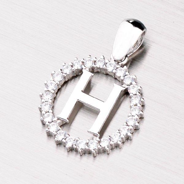 Stříbrné písmenko se zirkony - H MPNZ5057-H
