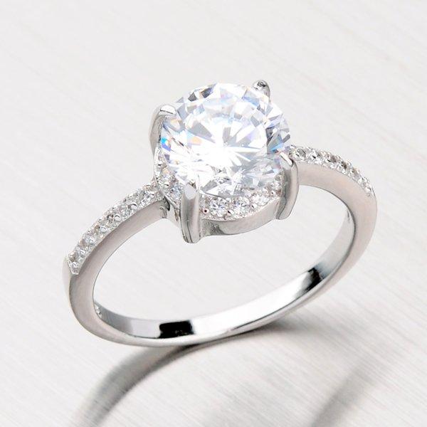 Rhodiovaný prsten ze stříbra RXC04140156
