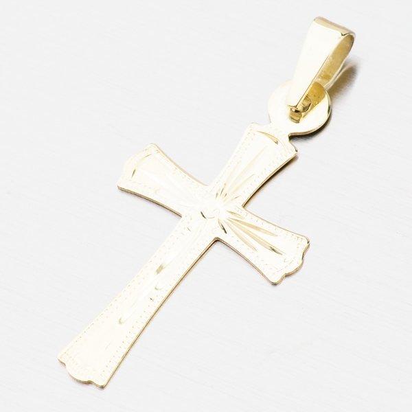 Zlatý gravírovaný kříž 322P-130111