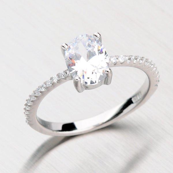 Prsten se zirkony ze stříbra RXC04140169
