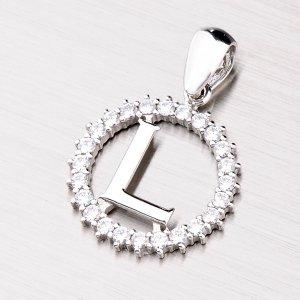 Stříbrné písmenko se zirkony - L MPNZ5057-L