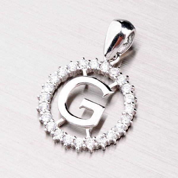 Stříbrné písmenko se zirkony - G MPNZ5057-G