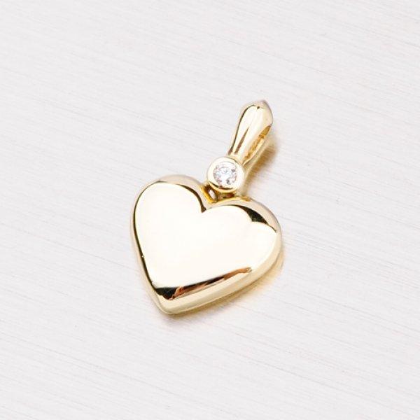 Zlaté srdce se zirkonem GZ2976