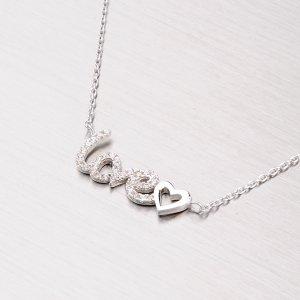 Stříbrný náhrdelník se zirkony NXX02140020