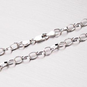 Stříbrný řetízek s rhodiováním ROLOR-042R-Rh