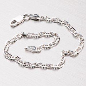 Stříbrný rhodiovaný náramek FLM-080-Rh
