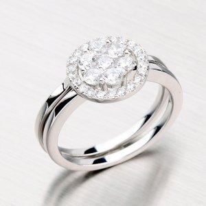 Dvojitý stříbrný prsten se zirkony RXC07150141