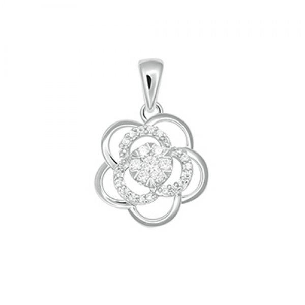 Diamantový přívěsek - kytička GKW60813