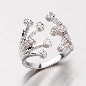 Stříbrný prsten se zirkony RXC04140132