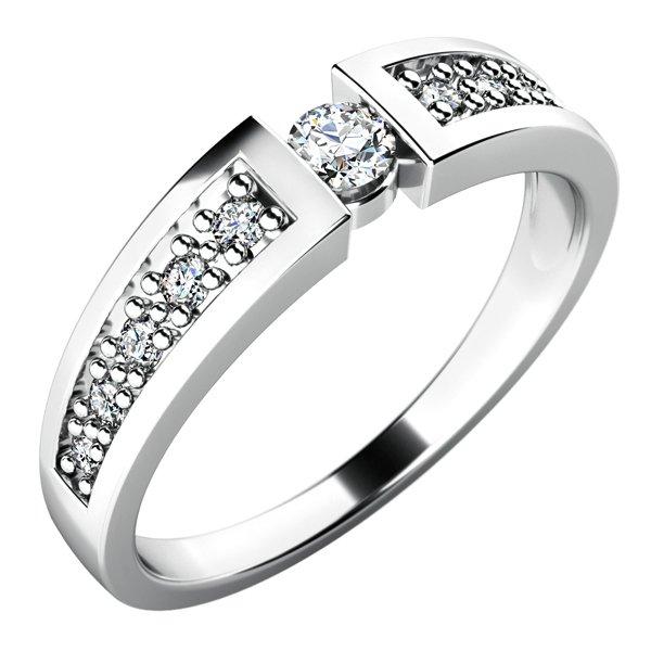Dámský prsten s diamanty 10775D