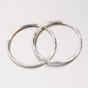 Garvírované stříbrné kruhy M6669