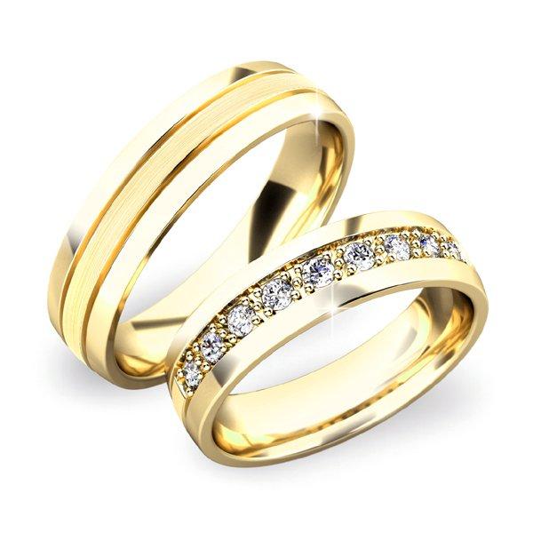 Snubní prsteny ze žlutého zlata SP-61043