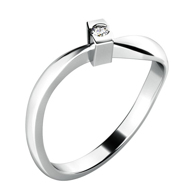 Dámský prsten s diamantem 10784D
