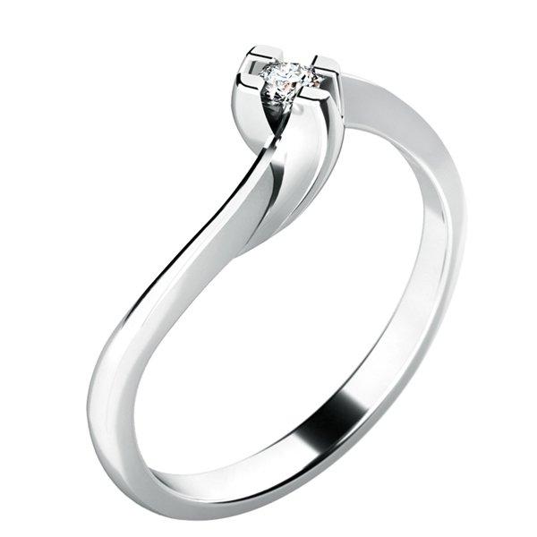 Zásnubní prsten se zirkonem ZP-10787