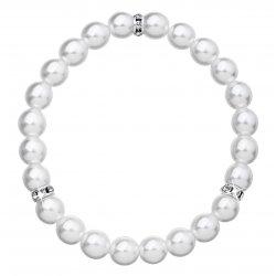 Perlový náramek bílý 33017.1 33017.1 BÍLÁ