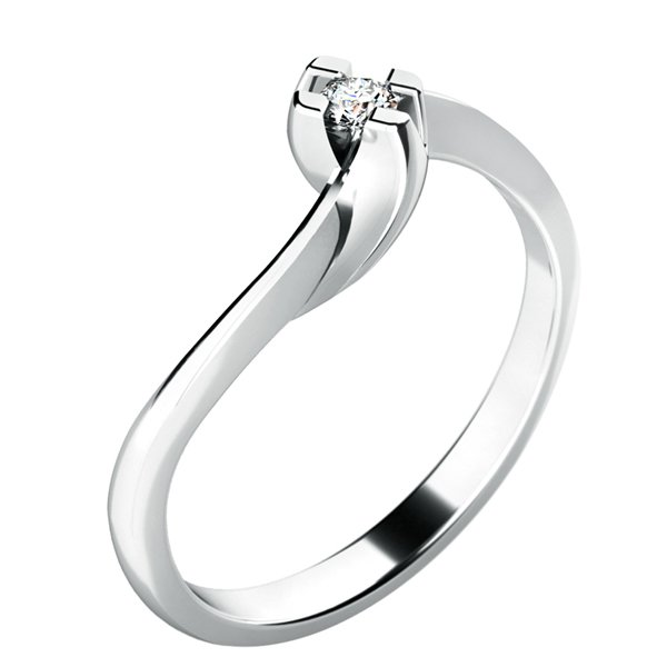 Dámský prsten s diamantem 10787D
