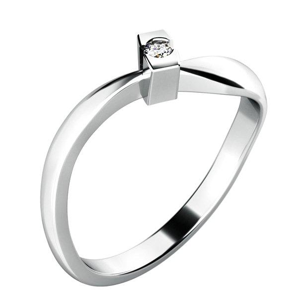 Zásnubní prsten se zirkonem ZP-10784