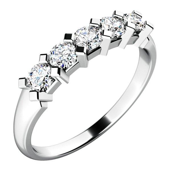 Dámský prsten s diamanty 10774D