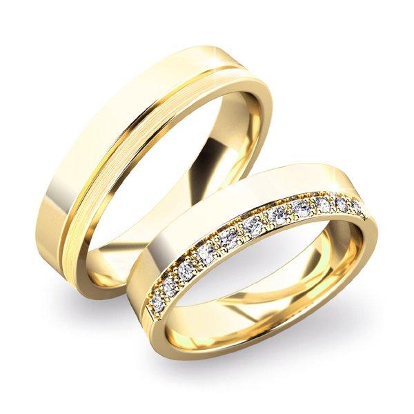 Snubní prsteny ze žlutého zlata SP-61039