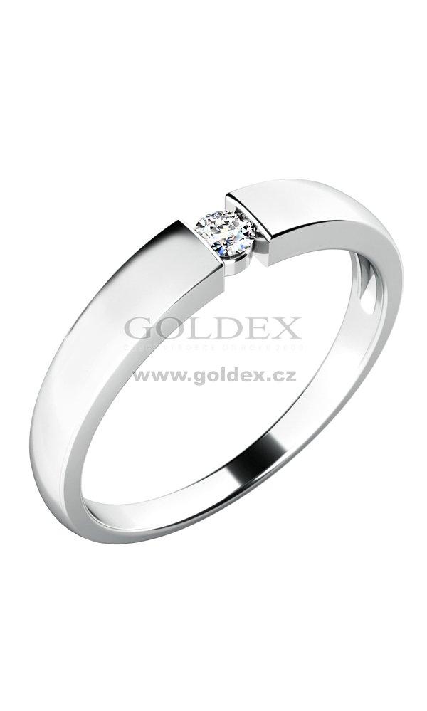 aa276415c Dámský prsten s diamantem 10771D : Goldex.cz