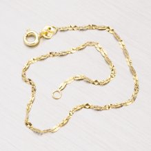 Zlatý gravírovaný náramek 44-1385