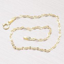 Gravírovaný zlatý náramek 44-1663