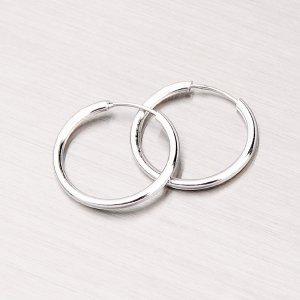 Kroužky ze stříbra 15mm M7696
