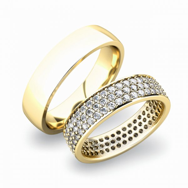 SP-61040 Zlaté snubní prsteny SP-61040