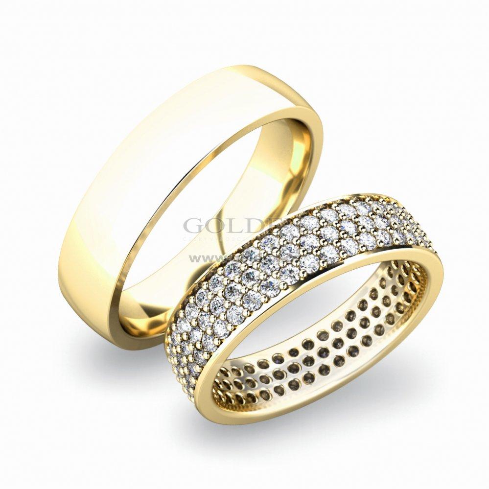 Sp 61040 Zlate Snubni Prsteny Sp 61040b Goldex Cz