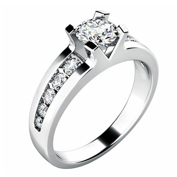 Zásnubní prsten se zirkony ZP-10776