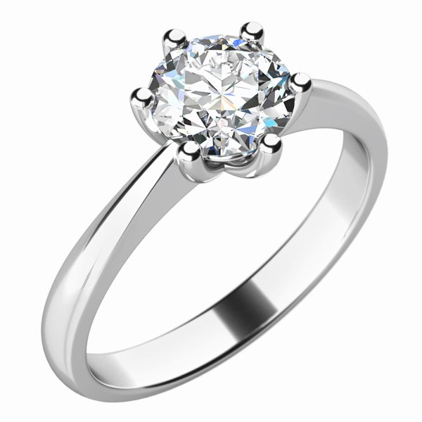 Zásnubní prsten s diamantem ZP-10736D