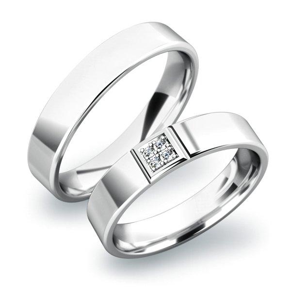 Zlaté snubní prsteny SP-61022B