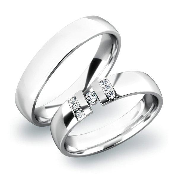 Zlaté snubní prsteny SP-61017B