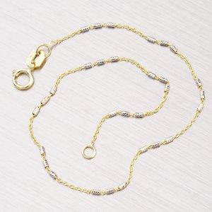 Náramek ze žlutého a bílého zlata 44-1317