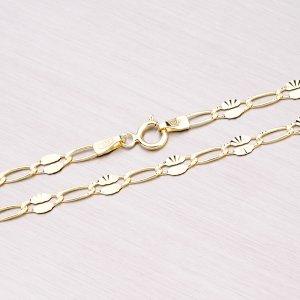 Gravírovaný zlatý řetízek 45-1638