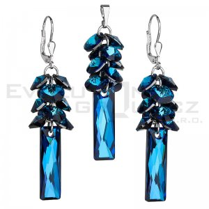 Souprava se Swarovski ELEMENTS - Bermuda Blue 39124.5