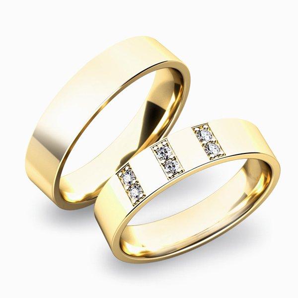 Zlaté snubní prsteny SP-61031Z
