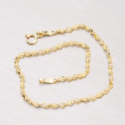 Kombinovaný zlatý náramek - Lambáda 44-1255