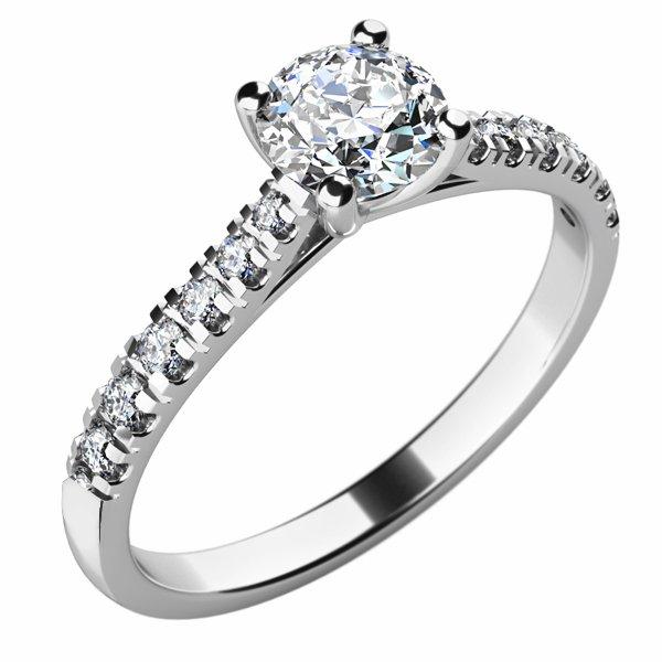 Zásnubní prsten s diamanty ZP-10759D