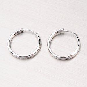 Stříbrné kruhy M6176
