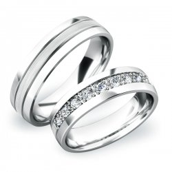 Snubní prsteny z bílého zlata SP-61043B