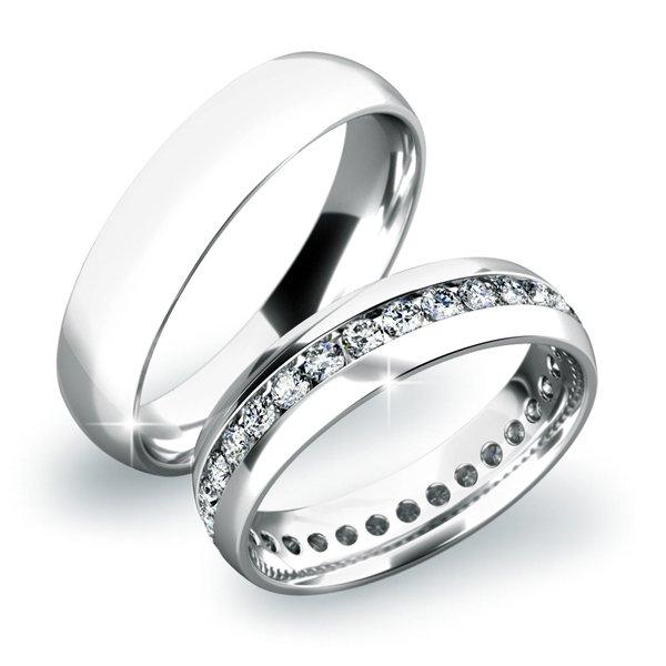 Zlaté snubní prsteny SP-61021B