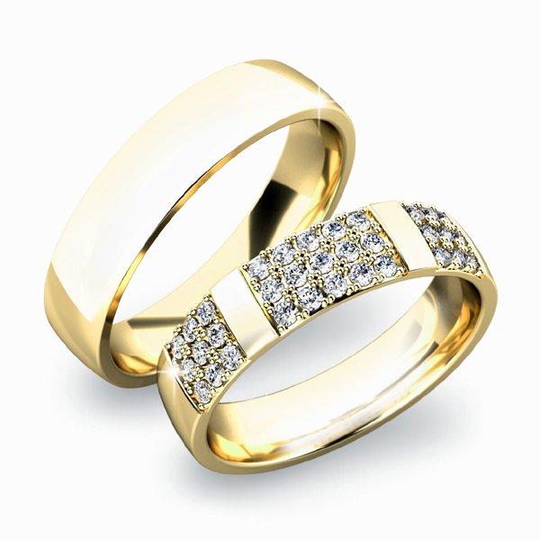 Snubní prsteny ze žlutého zlata SP-61041