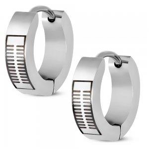 Náušnice - kruhy 15mm z oceli GESV125