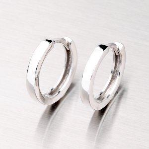 Stříbrné náušnice - kruhy 16mm OKP-014P-OKS