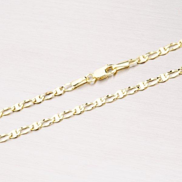 Zlatý náramek Figaro 1+1 44-1032