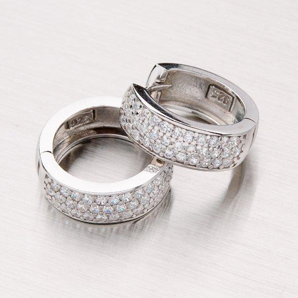 Stříbrné kroužky se zirkony OTKP-003-OKS